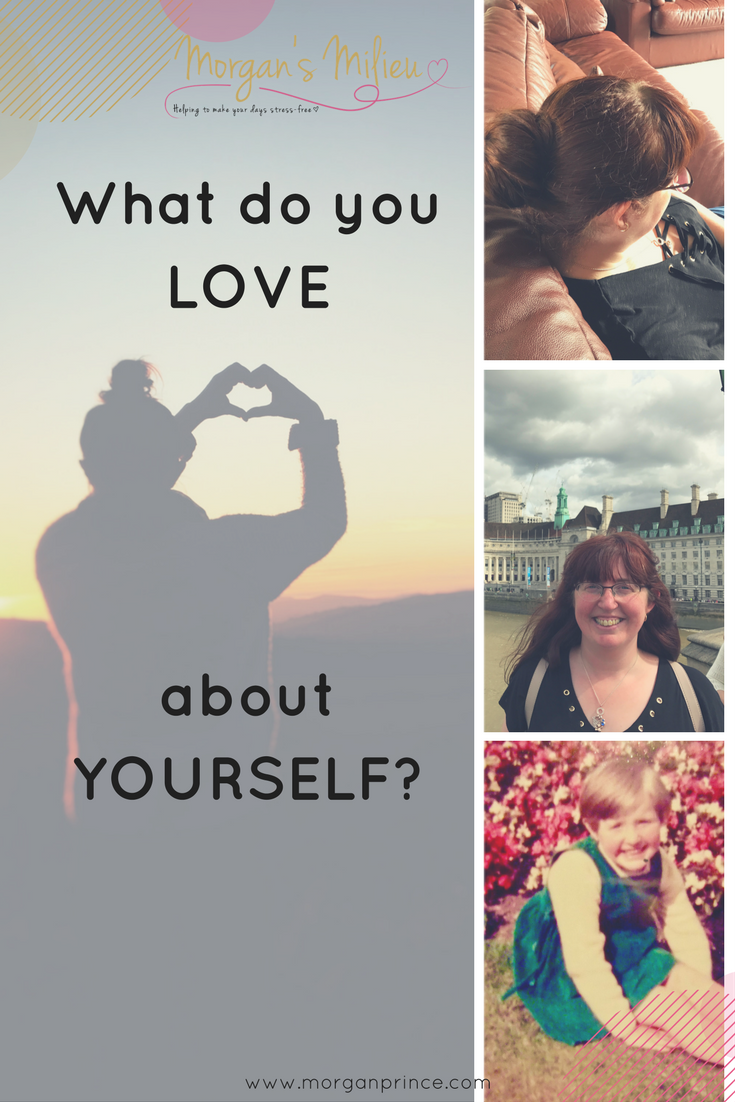 4 images featuring women at different stages. The title says What do you LOVE about yourself?