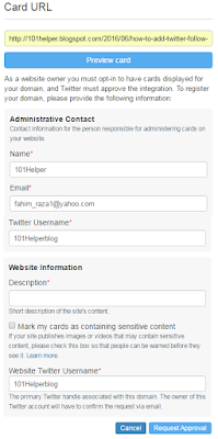 how to request twitter for player card approval 101helper