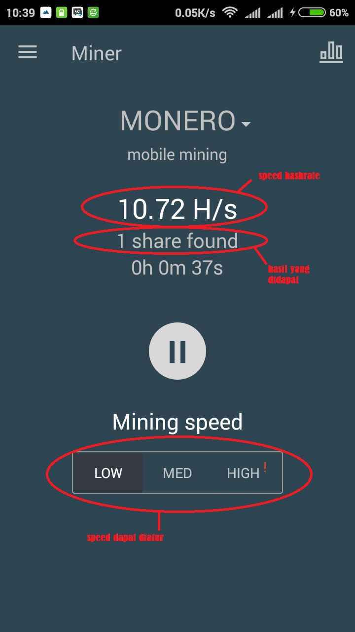 xmr android mining