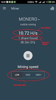 Proses mining xmr di minergate