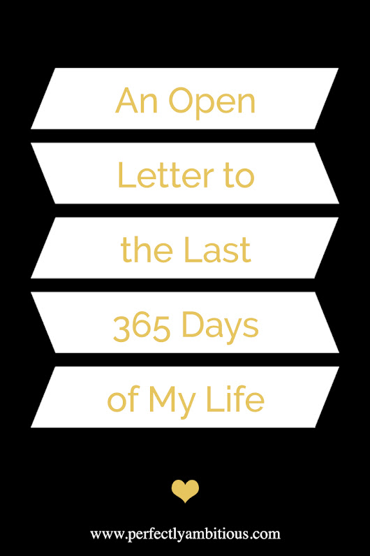 An Open Letter to the Last 365 Days of My Life - Perfectly Ambitious