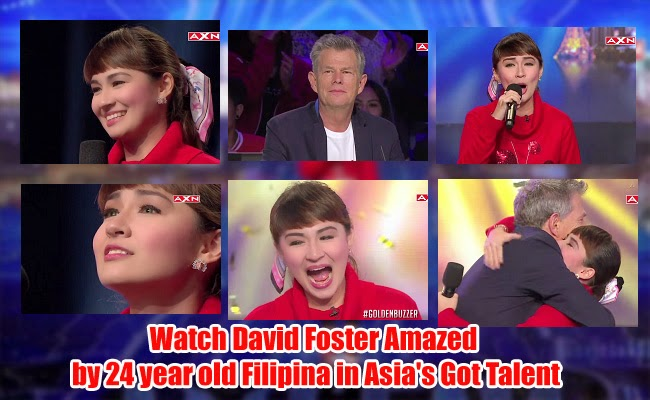 Watch David Foster Amazed by 24 year old Filipina in Asia's Got Talent