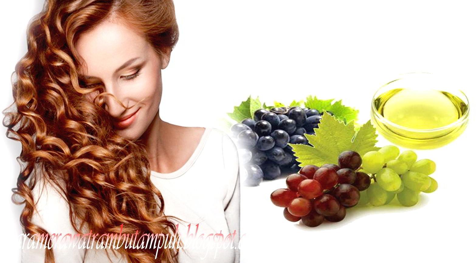 Menggunakan Minyak dari Biji Anggur Untuk Menjaga Kesehatan Rambut