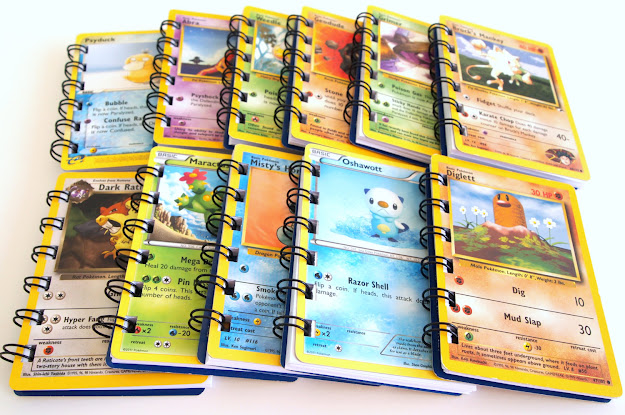 Upcycled Pokemon Cards  Pokemon Party Favors  Pokemon Favor  Pokemon  Birthday Party  Pokemon