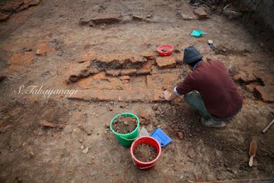 カピラ城の発掘調査続行中