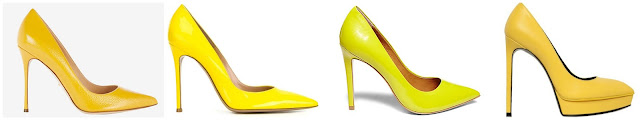 I am starting to see a new spring trend - yellow pumps! One of these pairs is from Steve Madden on sale for $80 and the other three are from designers for hundreds. Can you guess which one is the more affordable pair? Click the links below to see if you are correct!