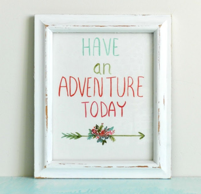 Have an Adventure Today Giclee Watercolor Print: Grow Creative Shop