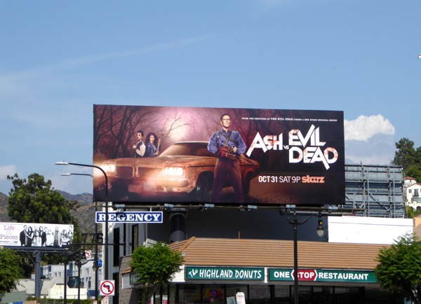 Ash vs Evil Dead Starz series billboard