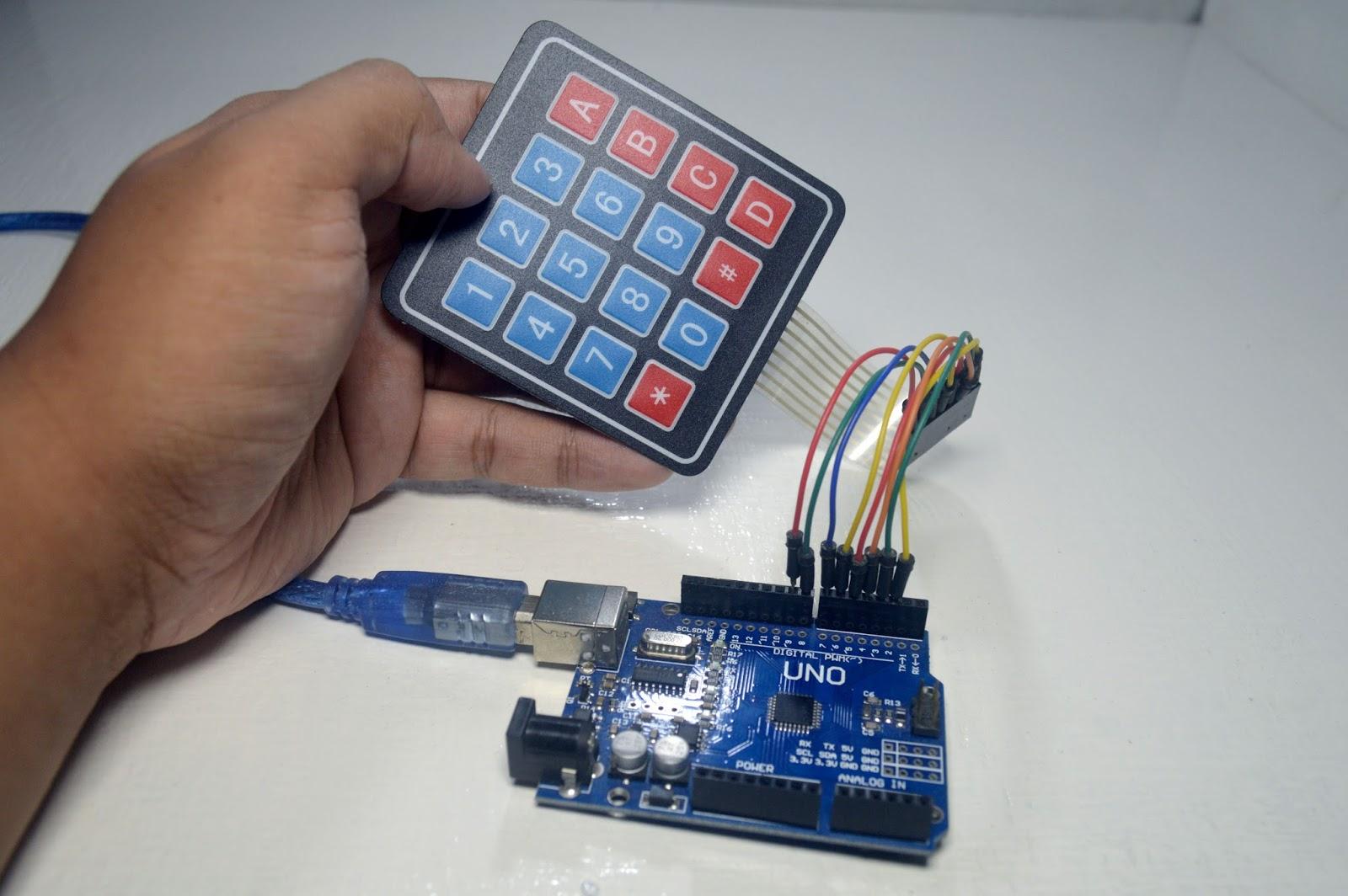 At mo production keypad matrix di arduino uno