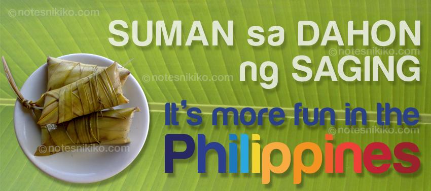 Suman sa Dahon ng Saging - It's more fun in the Philippines