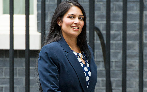 Indian Priti Patel - Minister for Employment, Government of UK