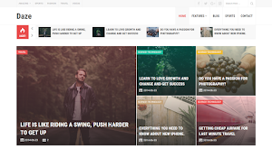 Daze Blogger template responsive magazine