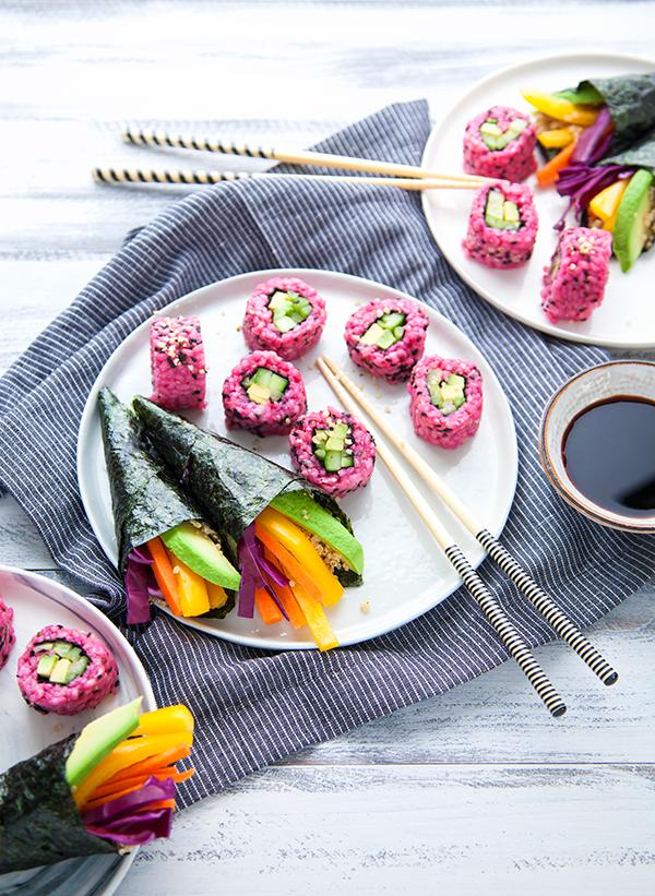 Des sushis vegan