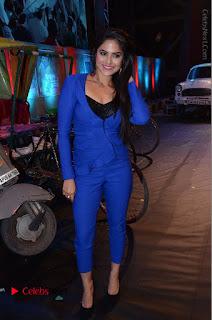 Actress Naina Ganguly Stills in Blue Dress at RGV Shiva to Vangaveeti Event  0060.JPG
