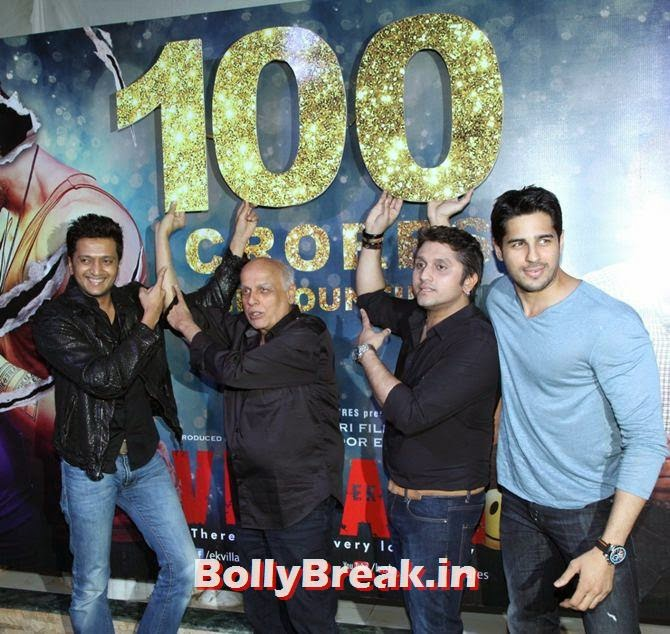 Riteish Deshmukh, Mahesh Bhatt, Mohit Suri and Siddharth Malhotra, Alia, Sonakshi, Shraddha party with Ek Villain team