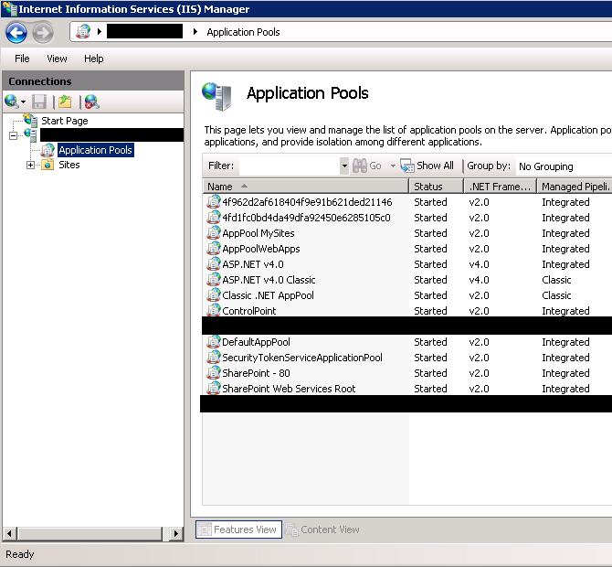 Procedure for manual application pool restart in IIS
