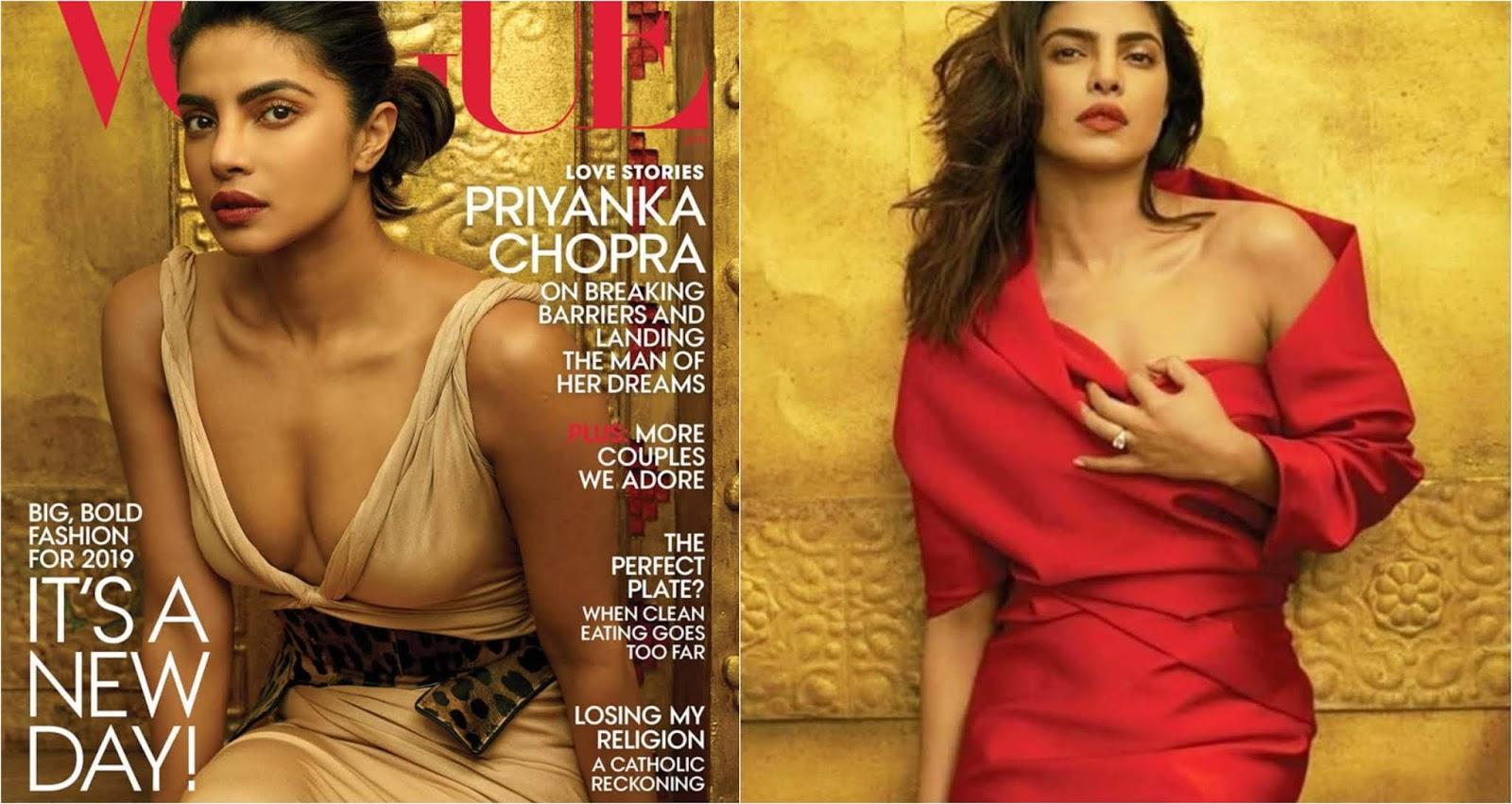 Priyanka Chopra Poses On The Latest Cover Page Of Vogue Magazine!