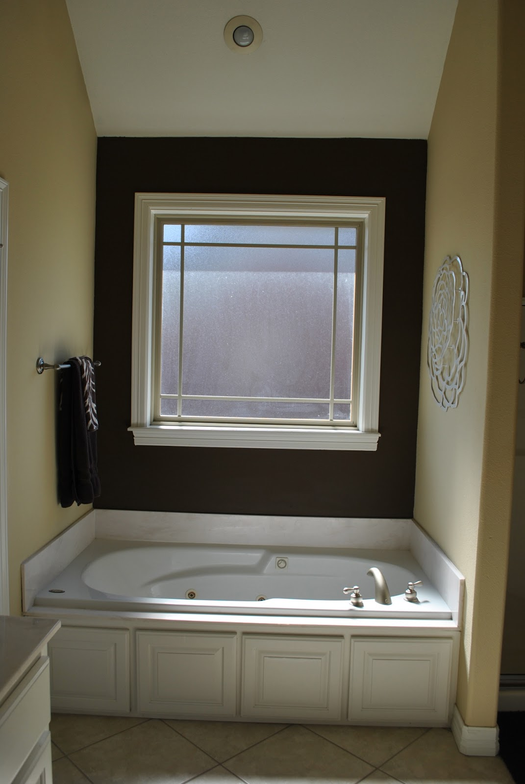 The Francis Family: Master Bathroom Accent Wall