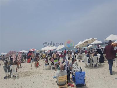 رغم قرار الغلق.. زحام في شاطئ الموت بالإسكندرية (صور)