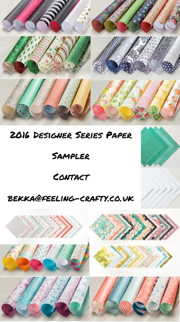 2016 Stampin' Up! UK Designer Series Paper Sampler Available to buy here
