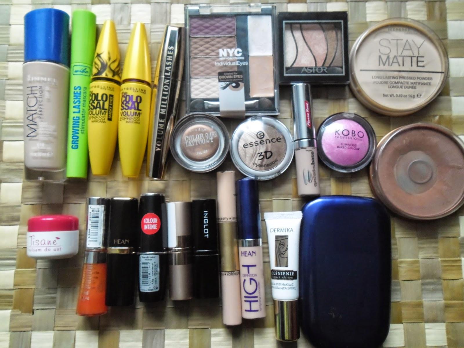 Moje kosmetyki kolorowe
