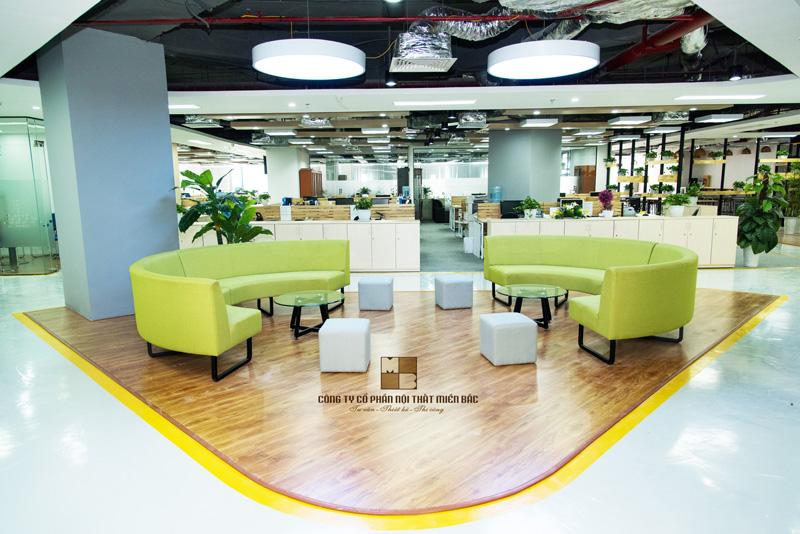 Thiết kế nội thất phòng làm việc có không gian thư giãn