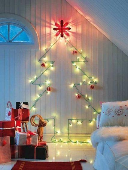 Diy de árvore de natal na parede