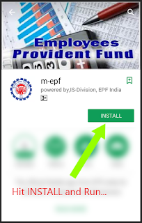 Step 3 to download epf mobile app