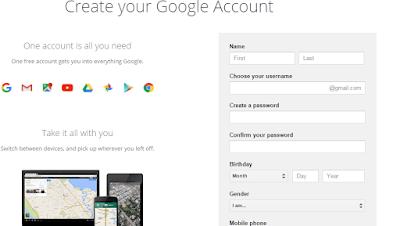 Cara Mudah Dan Cepat Membuat Akun Gmail