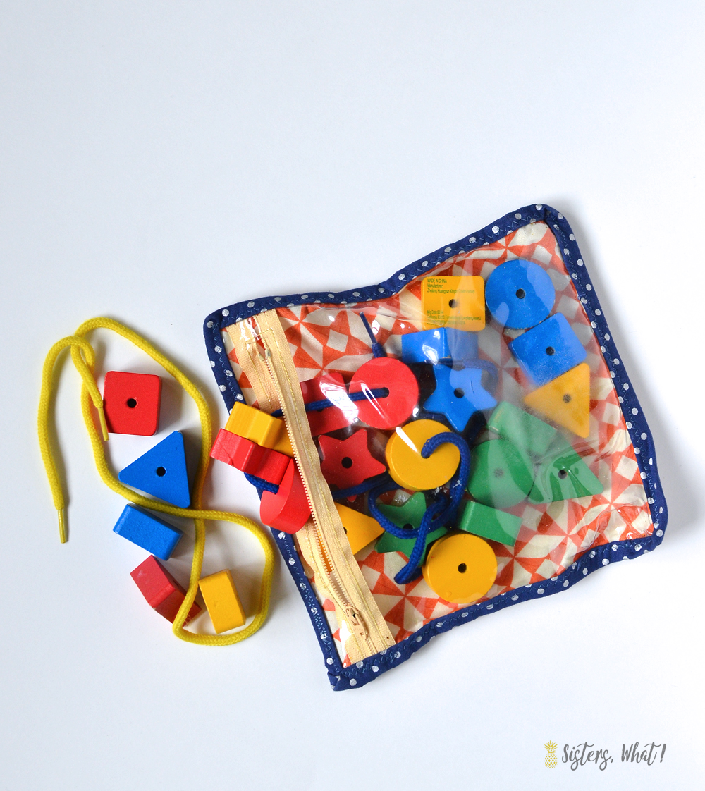 zipper pouch for kids toys and trinkets - an easy sewing tutorial