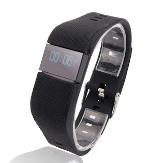 Sport Heart Rate Monitor Smart Bluetooth Watch Bracelet for Android iPhone Black