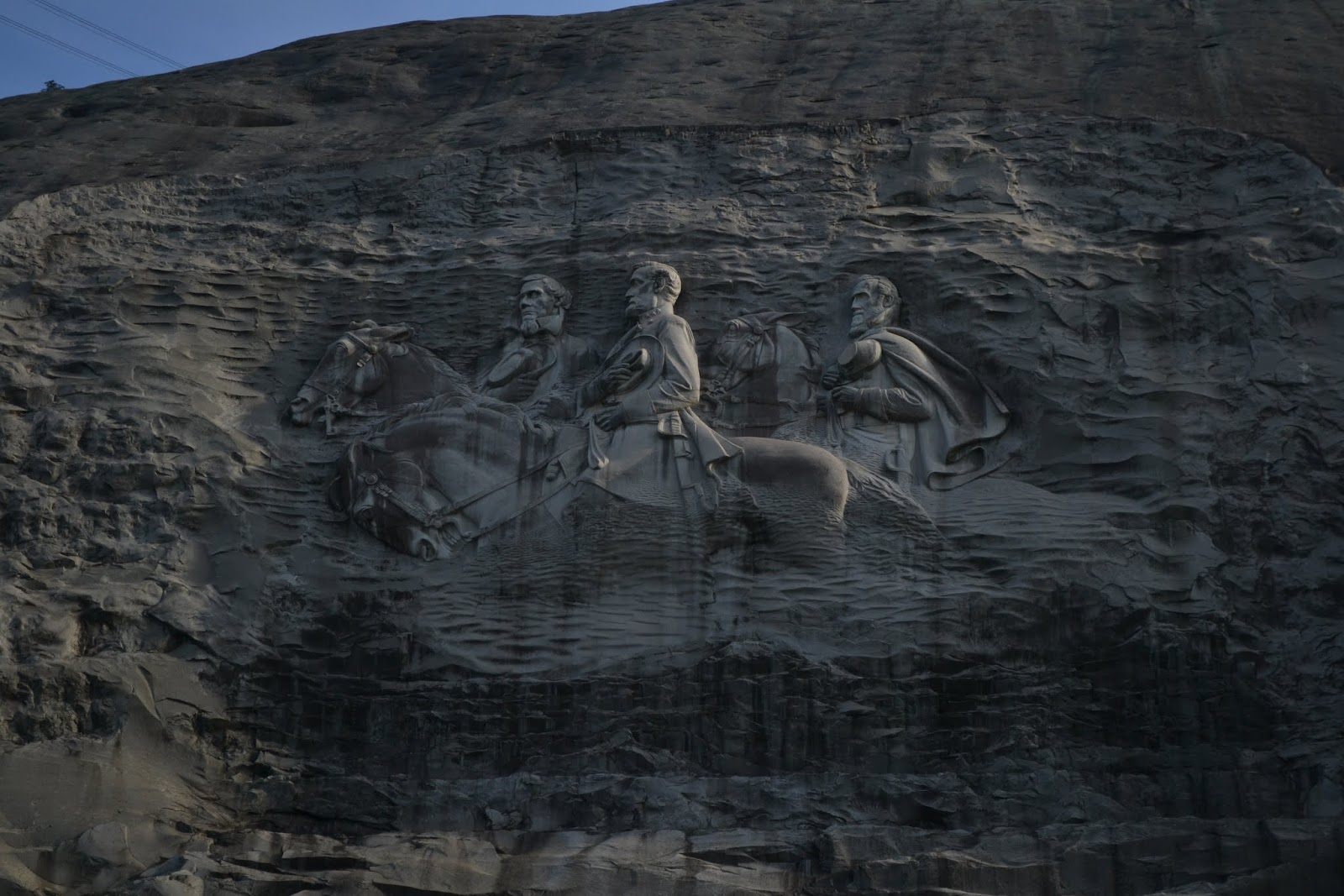 Мемориал Конфедерации. Стоун-Маунтин, Джорджия (Confederate Memorial Carving, Stone Mountain Mountain, Stone Mountain, Georgia)
