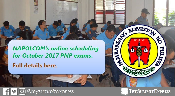 October 2017 NAPOLCOM OLEASS online exam application scheduling system activated