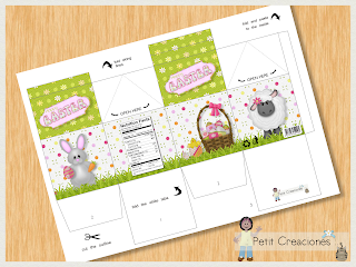 "PRINTABLE MILK Carton ""Happy Easter"" DIY (digital template) gift idea, placeholders, favor box, gift box for Easter"