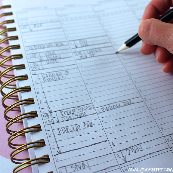 Productivity tips, weekly planner, purposeful planner, corie clark