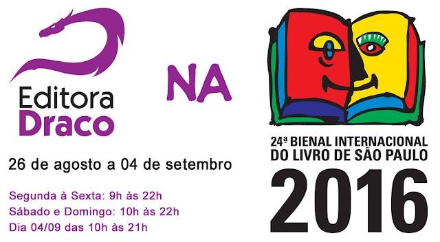 Lançamentos de Agosto - Editora Draco na Bienal