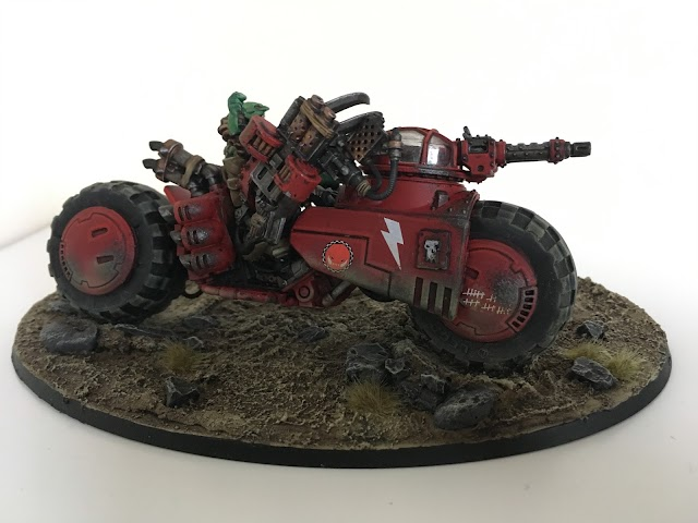 What's On Your Table: Converted Ork Warboss onna Bike