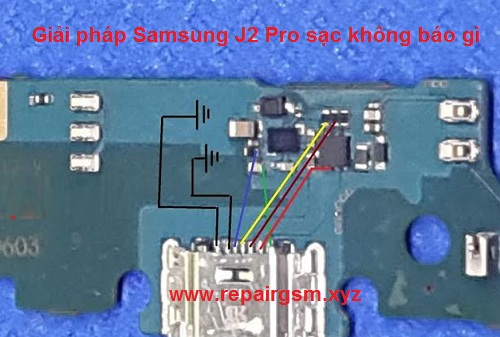 Giải pháp Samsung J2 Pro sạc không báo gì