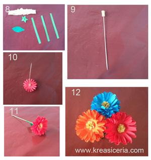 Tutorial membuat bunga dahlia yang cantik  dari kertas origami part 2