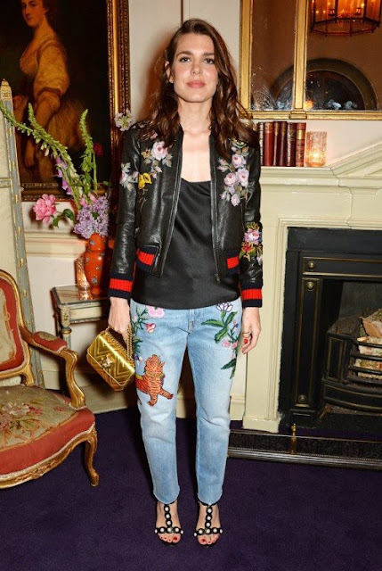 Charlotte Casiraghi attends the Gucci party at 106 Piccadilly in celebration of the Gucci Cruise 2017 fashion show