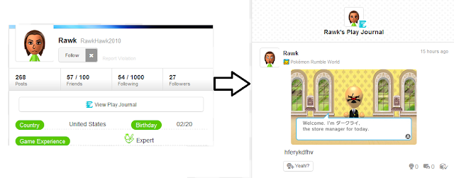 Miiverse profiles redesign July 29 screenshot