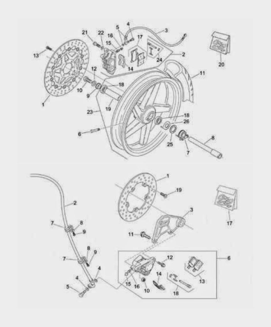 APRILIA RS 125 : Aprilia RS 125 Braking system