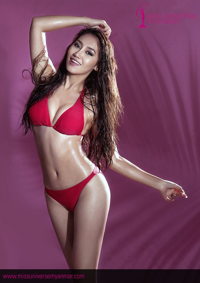 Miss Universe Myanmar 2016 Htet Htet Htun Looks Amazing In Pink Swim Suit Photoshoot