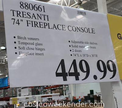 Deal for the Tresanti ChimneyFree Infrared Fireplace and Media Mantel at Costco
