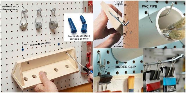 Como criar seu ateliê utilizando placas pegboard