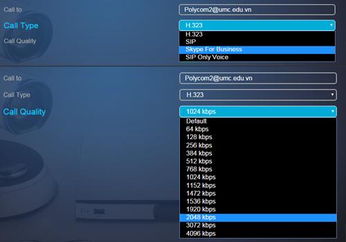 Chỉnh sửa thông số khi họp trực tuyến bằng Skype for Busines