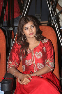 Actress Heba Patel Latest Stills in Red Dress at Mister Movie Trailer Launch Event  0020.jpg