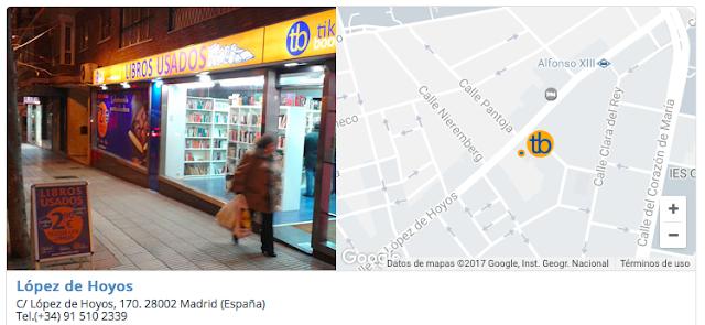 Tienda libros segunda mano Madrid