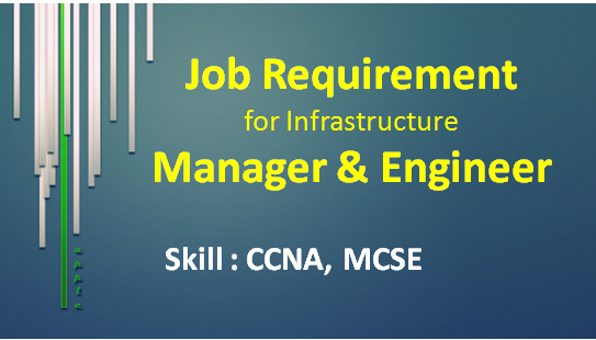 Job | Infrastructure Manager And An Infrastructure Engineer | England