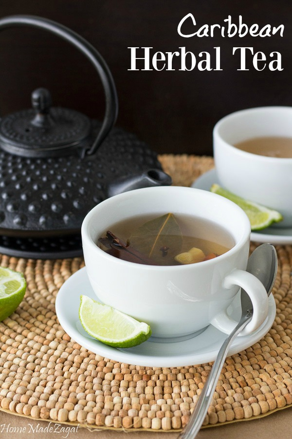 Caribbean Herbal Tea - An amazing combination of native herbs, creating a delicious herbal tea providing nutritional benefits. #HomeMadeZagat